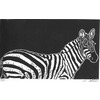 """""""Vintage Television"""" Zebra Linoluel Cut 6 """" x 10"""" Strathmore 500 series Bristol Paper Printed in Speedball Waterbased Inks A play on words here."""