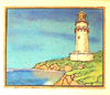 Robert Viana - Printmaker - Block Print thumbnail - Lighthouse