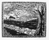 Robert Viana - Printmaker - Linocut Print thumbnail - Night on the Farm