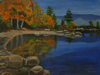 Robert Viana - Printmaker - Acrylic on Canvas thumbnail - Squam lake